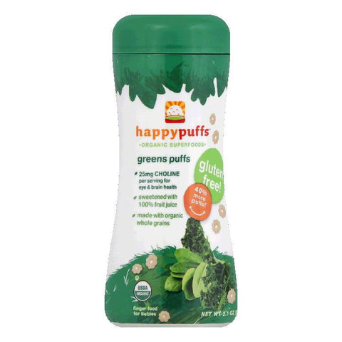 Happy Baby Organic Green Puffs, 2.1 OZ (Pack of 6)