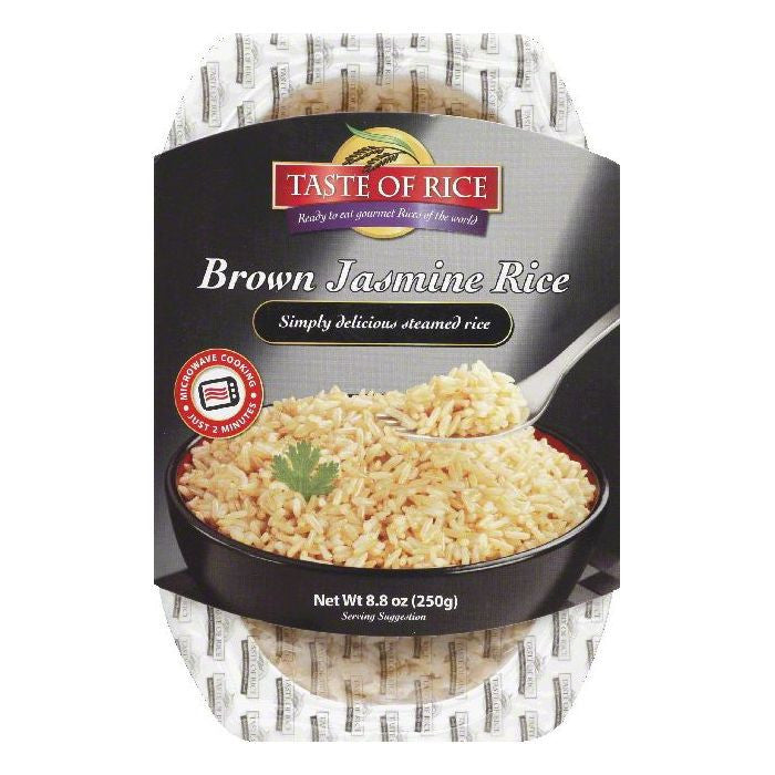 Taste of Rice Brown Jasmine Rice, 8.8 OZ (Pack of 6)
