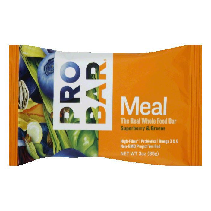 Probar Superberry & Greens Meal Bar, 3 Oz (Pack of 12)