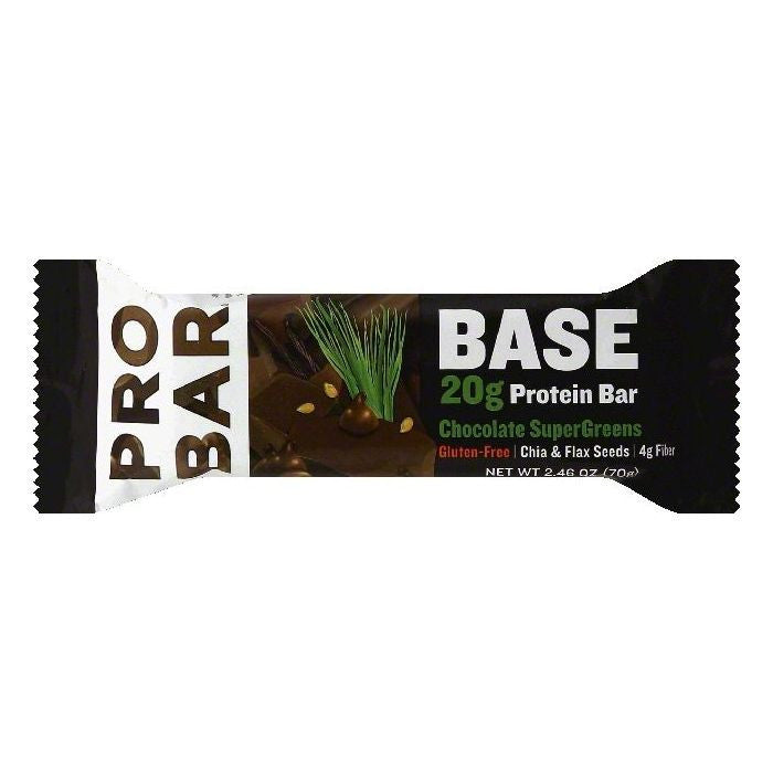 Probar Chocolate SuperGreens Protein Bar, 2.46 OZ (Pack of 12)