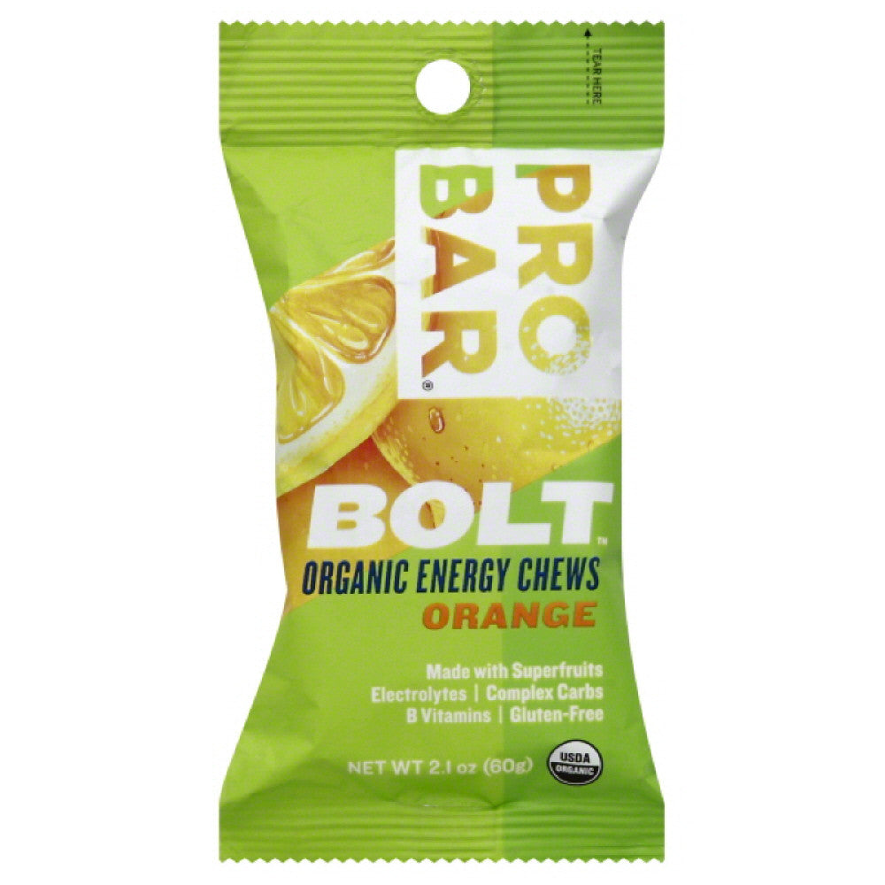 Probar Orange Organic Energy Chews, 2.1 Oz (Pack of 12)