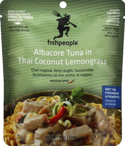 Fishpeople Medium Spice in Thai Coconut Lemongrass Albacore Tuna, 7 Oz (Pack of 12)
