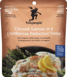 Fishpeople in a Chardonnay Reduction Sauce Chinook Salmon, 7 Oz (Pack of 12)