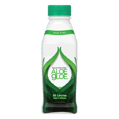 Aloe Gloe Pulp Free Natural Aloe Water, 15.2 FO (Pack of 12)