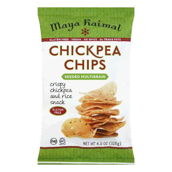 Maya Kaimal Seeded Multigrain Chickpea Chips, 4.5 OZ (Pack of 12)