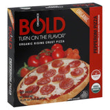 Bold Organics Pepperoni Rising Crust Organic Pizza, 15.25 Oz (Pack of 8)