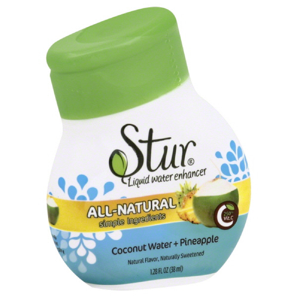 Stur Coconut Water + Pineapple Liquid Water Enhancer, 1.1 Oz (Pack of 6)