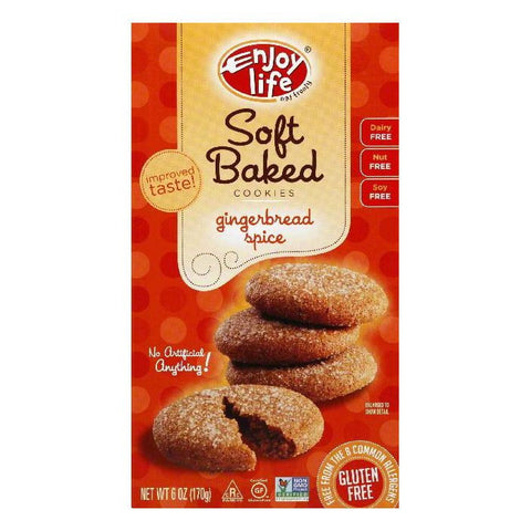Enjoy Life Gluten Free Ginger Spice Cookies Wheat Free, 6 OZ (Pack of 6)