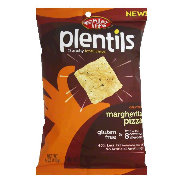 Enjoy Life Margherita Pizza Lentil Chips Plentils, 4 OZ (Pack of 12)