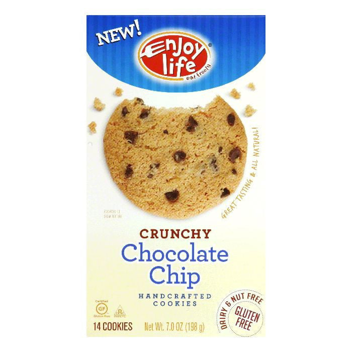 Enjoy Life Crunchy Chocolate Chip Cookie, 7 OZ (Pack of 6)