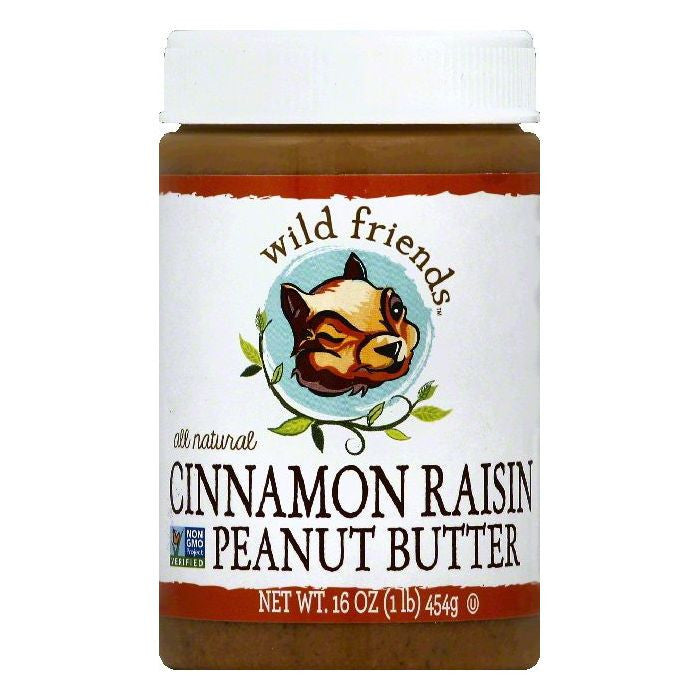 Wild Friends Cinnamon Raisin Peanut Butter, 16 OZ (Pack of 6)