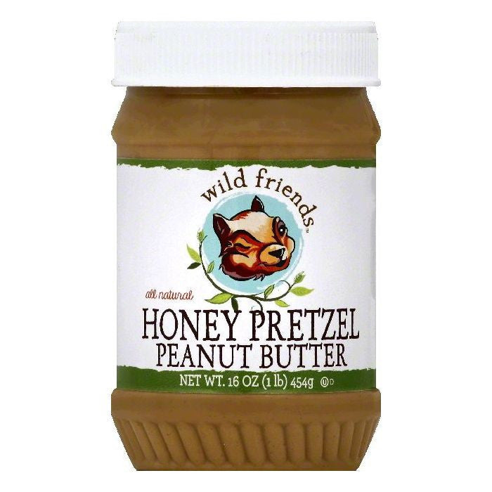 Wild Friends Honey Pretzel Peanut Butter, 16 OZ (Pack of 6)