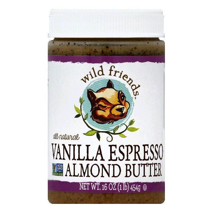 Wild Friends Vanilla Espresso Almond Butter, 16 OZ (Pack of 6)