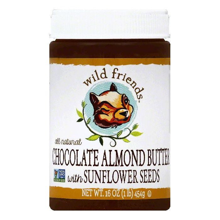 Wild Friends Chocolate Almond Butter with Sunflower Seeds, 16 OZ (Pack of 6)