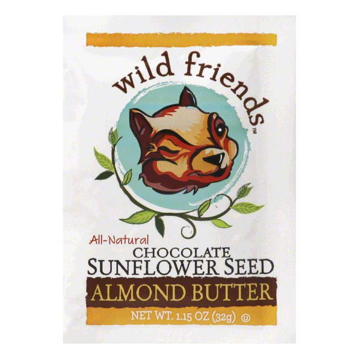 Wild Friends Chocolate Sunflower Seed Almond Butter, 1.15 Oz (Pack of 10)