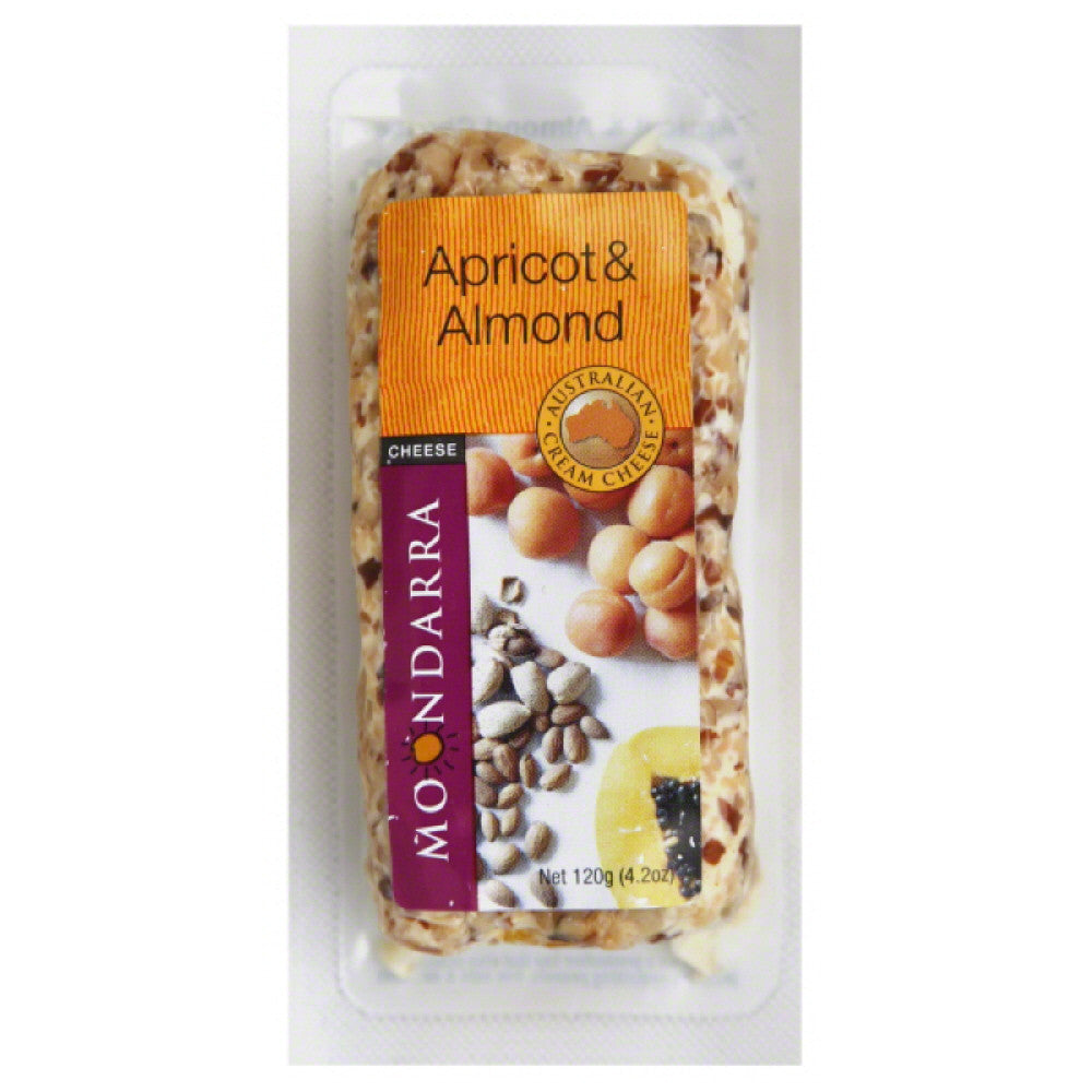 Moondarra Apricot & Almond Australian Cream Cheese, 4.2 Oz (Pack of 8)