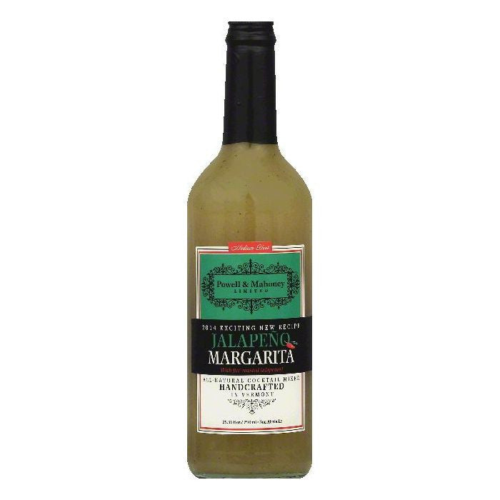 Powell & Mahoney Medium Heat Jalapeno Margarita Cocktail Mixer, 25.36 OZ (Pack of 6)