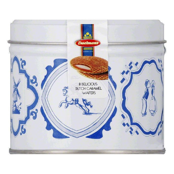 Daelmans Wafer Caramel Gift Tin, 8.11 OZ (Pack of 9)