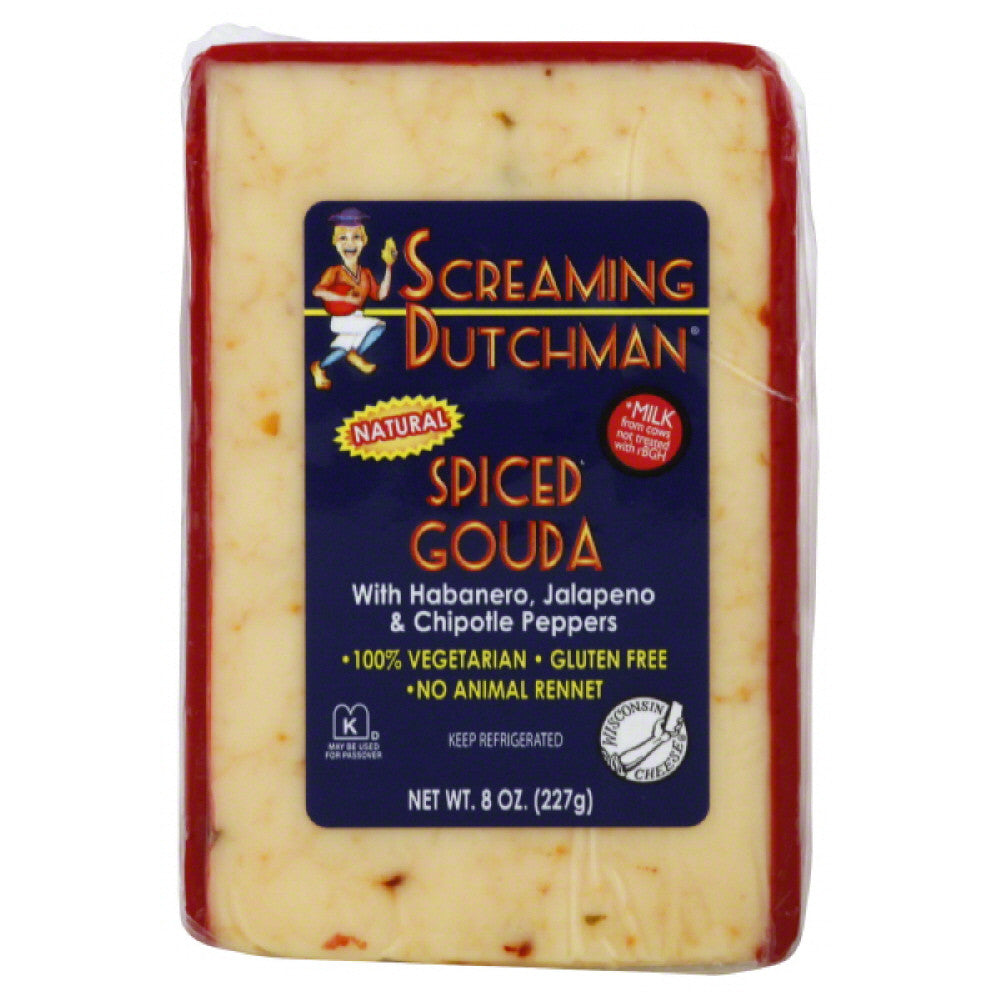 Screaming Dutchman Spiced Gouda Cheese, 8 Oz (Pack of 12)