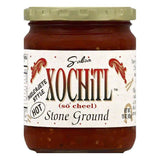 Xochitl Hot Molcajete Style Stone Ground Salsa, 15 OZ (Pack of 6)