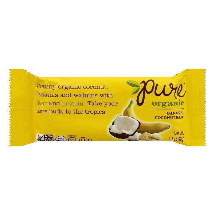 Pure Banana Coconut Bar Fruit Bar, 1.7 OZ (Pack of 12)
