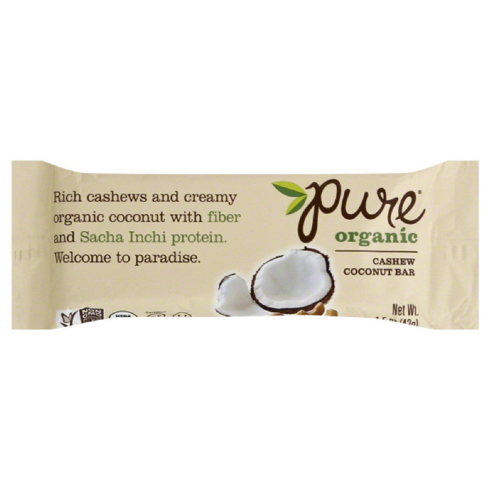 Pure Cashew Coconut Bar, 1.5 Oz (Pack of 12)