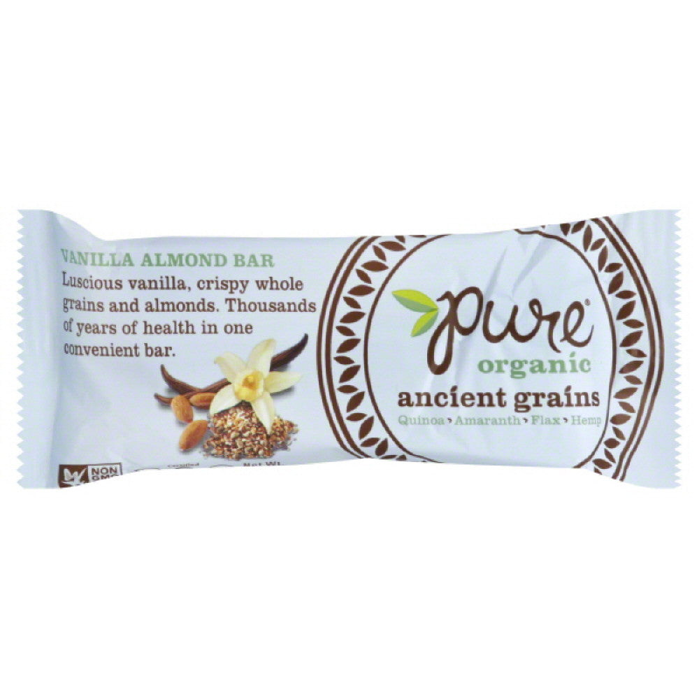 Pure Vanilla Almond Ancient Grains Bar, 1.23 Oz (Pack of 12)