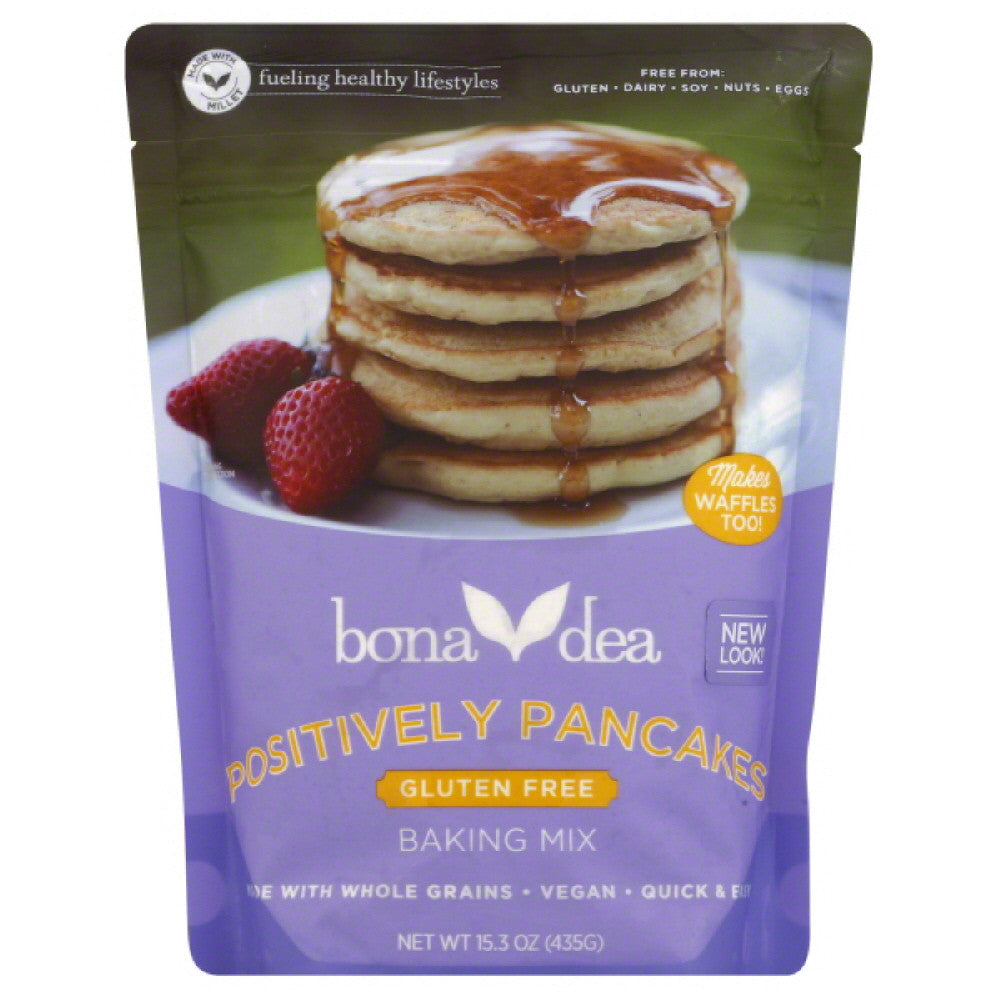 Bona Dea Positively Pancakes Baking Mix, 15.3 Oz (Pack of 6)