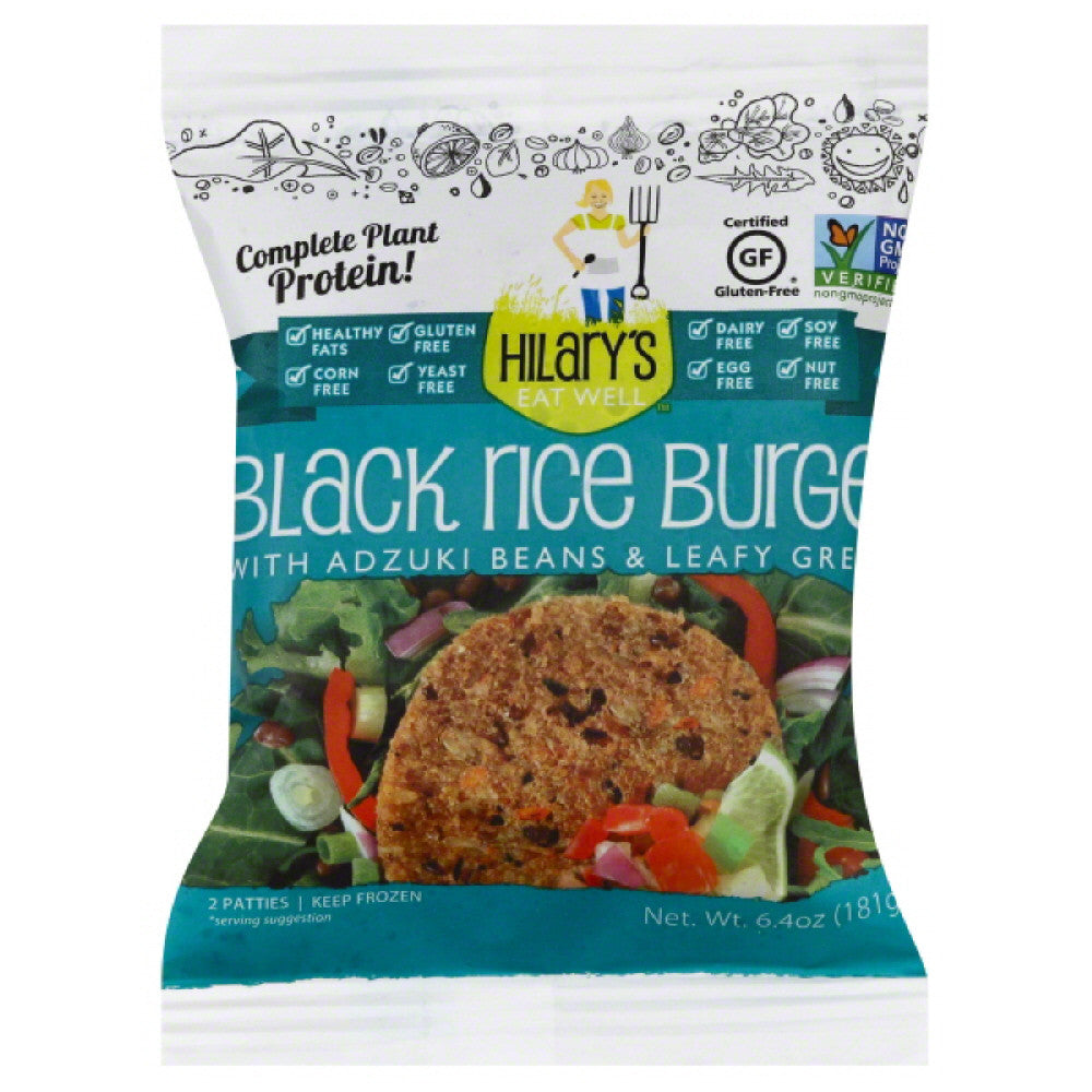 Hilarys Eat Well Black Rice Burger, 6.4 Oz (Pack of 12)