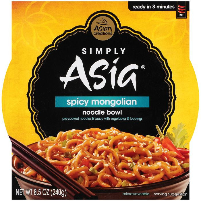 Simply Asia Noodle Bowl Spicy Mongolian 8.5 Oz Sleeve (Pack of 6)