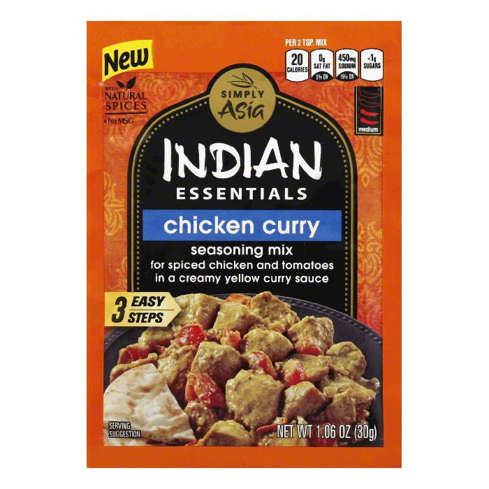 Simply Asia Medium Chicken Curry Seasoning Mix, 1.6 Oz (Pack of 12)