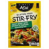 Simply Asia Mild Sweet Ginger Garlic Chicken & Vegetable Stir-Fry Gluten-Free Seasoning Mix, 1.13 Oz (Pack of 12)