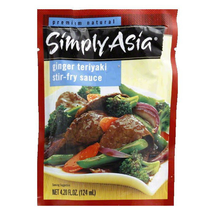 Simply Asia Ginger Teriyaki Stir Fry Sauce Packet, 4.2 FO (Pack of 6)