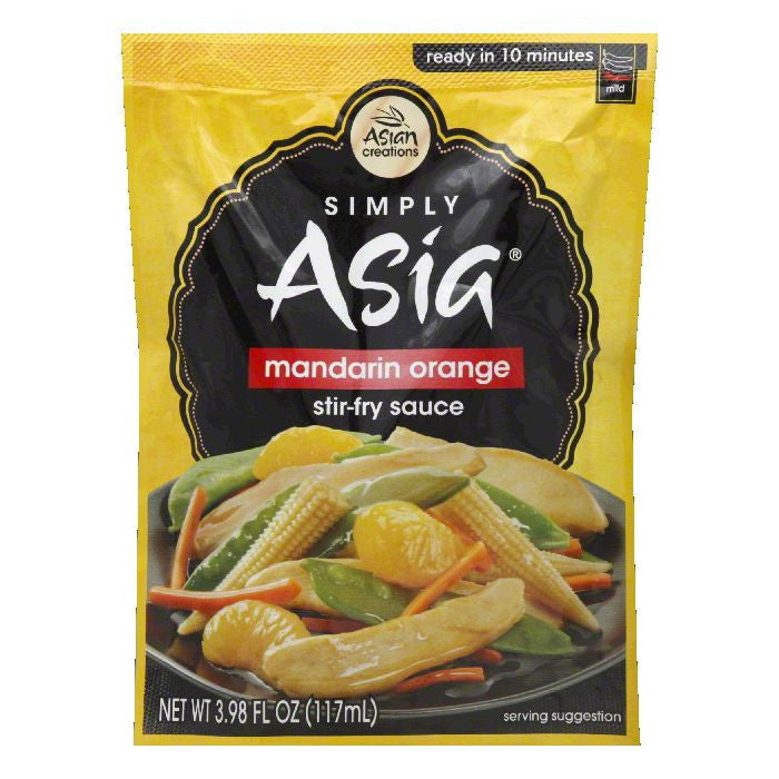 Simply Asia Mandarin Orange Stir Fry Sauce Packet, 3.98 FO (Pack of 6)