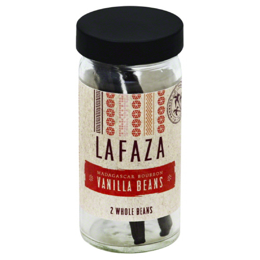 Lafaza Madagascar Bourbon Whole Vanilla Beans, 2 Pc (Pack of 6)