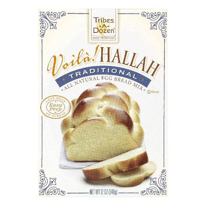 Tribes A Dozen Traditional Voila! Hallah, 12 Oz (Pack of 6)