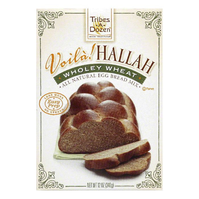 Tribes A Dozen Wholey Wheat Voila! Hallah, 12 Oz (Pack of 6)