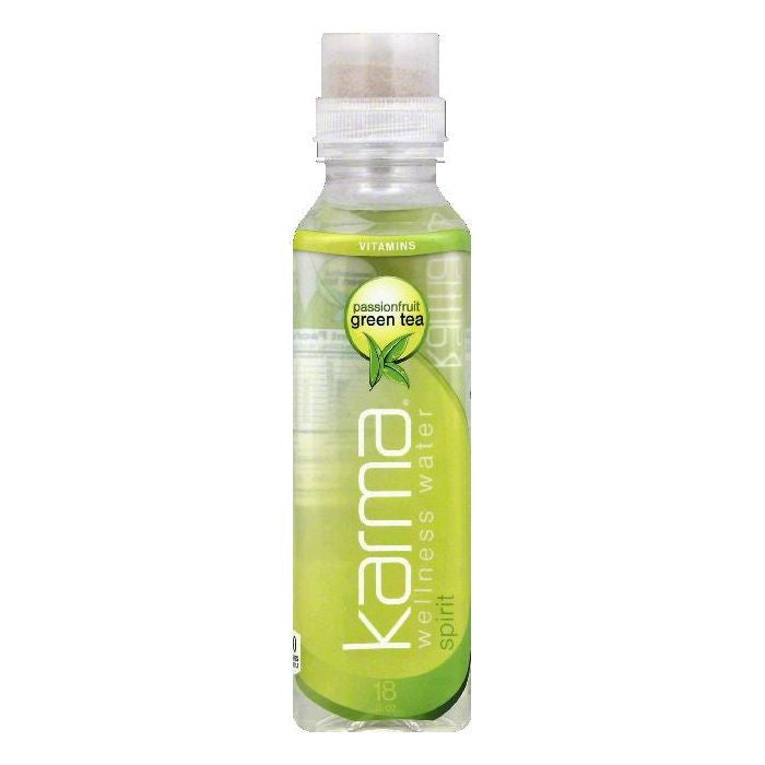 Karma Passionfruit Green Tea Spirit Wellness Water, 18 OZ (Pack of 12)