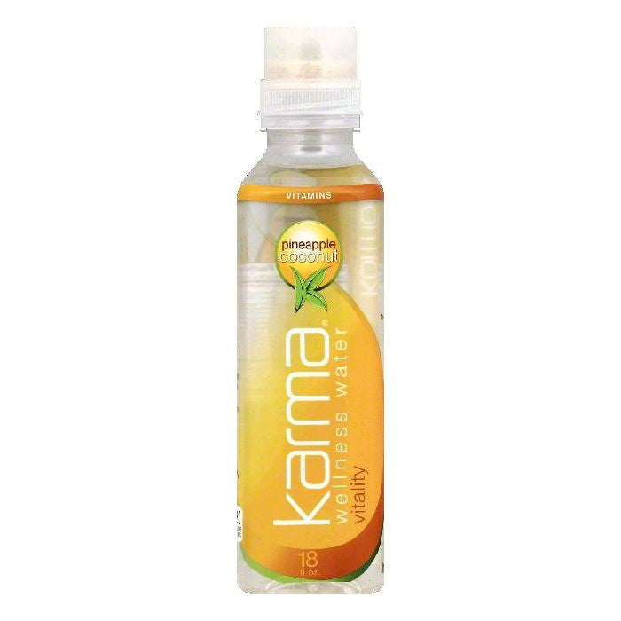 Karma Pineapple Coconut Vitality Wellness Water, 18 OZ (Pack of 12)