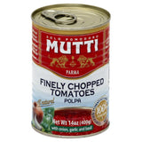 Mutti Garlic and Basil with Onion Finely Chopped Tomatoes, 14 Oz (Pack of 12)