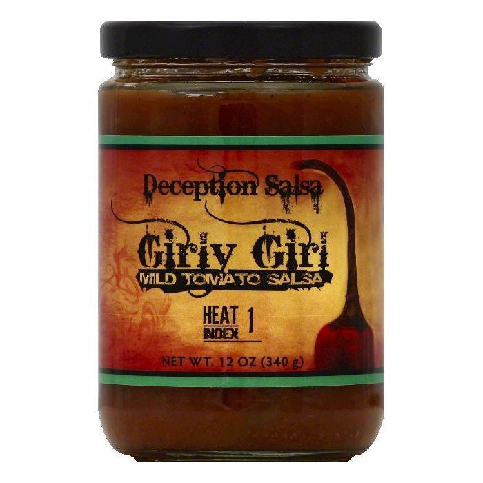 Deception Salsa Girly Girl Mild Tomato Salsa, 12 OZ (Pack of 6)