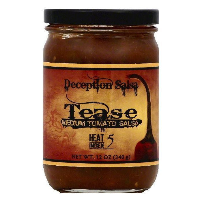 Deception Salsa Tease Medium Tomato Salsa, 12 OZ (Pack of 6)