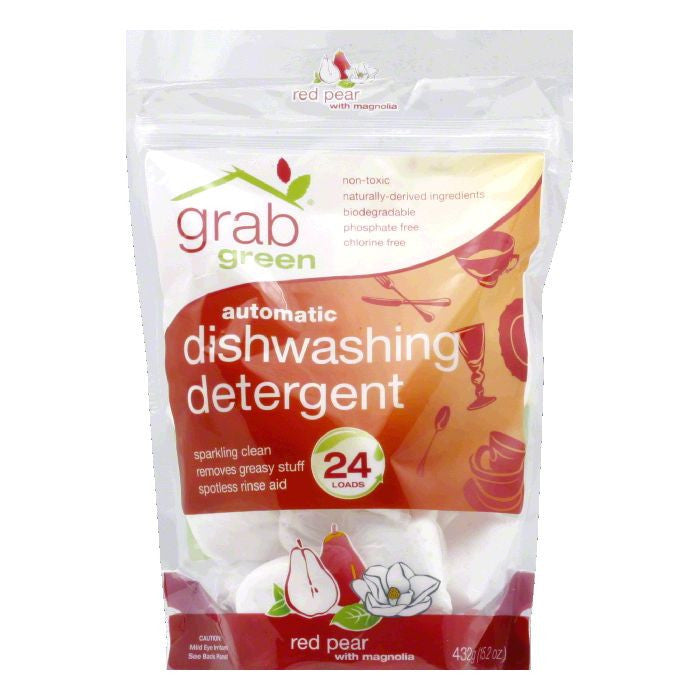 Grab Green Red Pear with Magnolia Automatic Dishwashing Detergent, 15.2 Oz (Pack of 6)