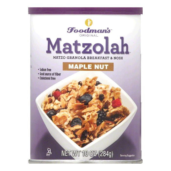 Foodmans Maple Nut Original Matzolah, 10 Oz (Pack of 6)
