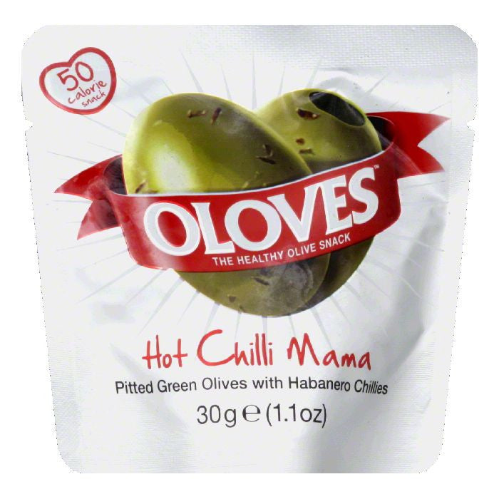 Oolves Hot Chili Mama Olive, 1.1 OZ (Pack of 10)