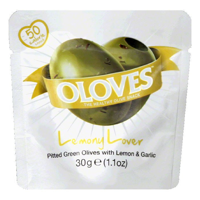 Oloves Lemony Lover Olives, 1.1 Oz (Pack of 10)