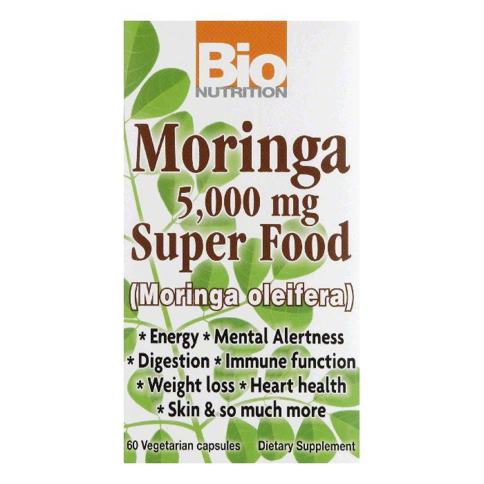 Bio Nutrition000 mg Vegetarian Capsules5 Moringa Super Food, 60 VC