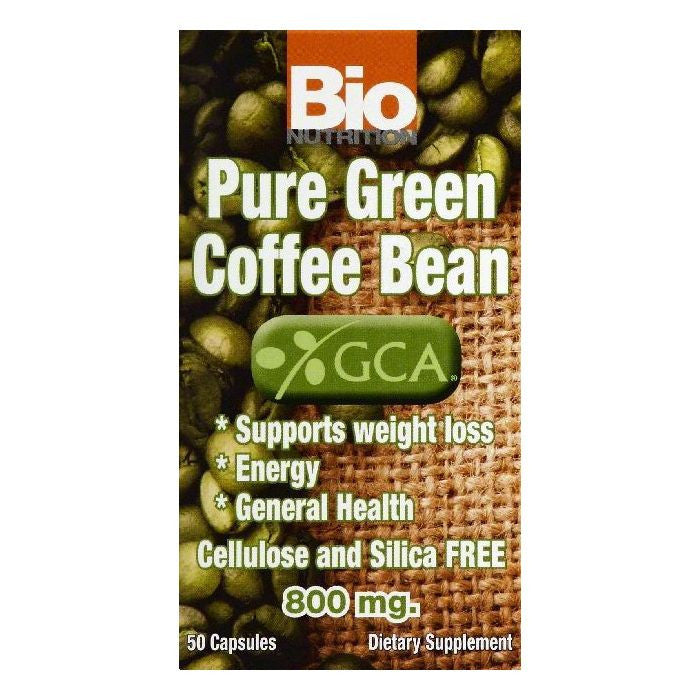 Bio Nutrition Capsules 800 mg Pure Green Coffee Bean, 50 ea