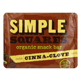 Simple Squares Bar Snack Cinnemon Clove, 1.6 OZ (Pack of 12)