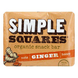 Simple Squares Bar Snack Ginger, 1.6 OZ (Pack of 12)